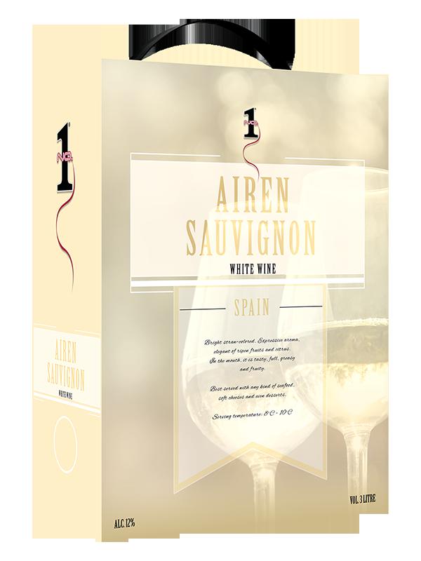 Wino No.1 White Wine from Spain Sauvignion 3l