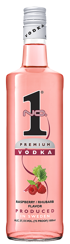 No.1 Vodka Raspberry/Rhubarb 1l