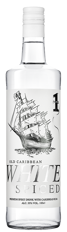 No.1 Old Caribbean White Rum 1l